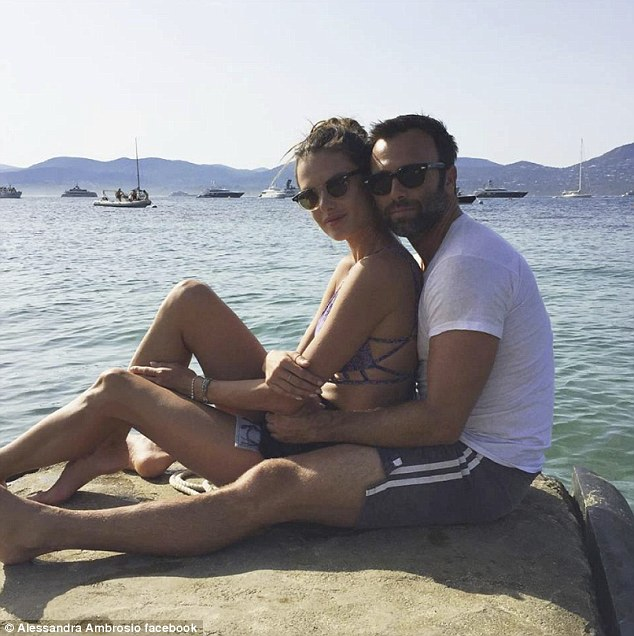 Longterm love: Alessandra and her businessman fiancé Jamie Mazur became engaged in 2008 but have yet to set a wedding date