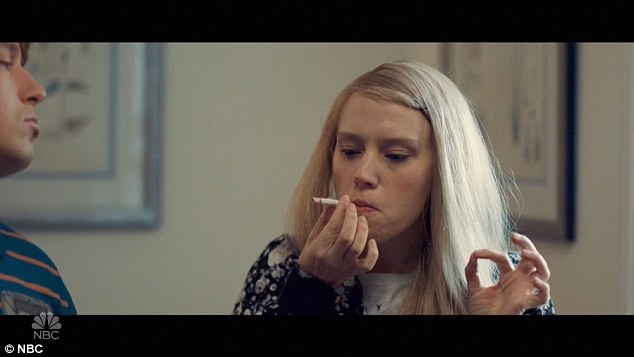 Smokin: McKinnon cropped up again, this time trying to impress a boy