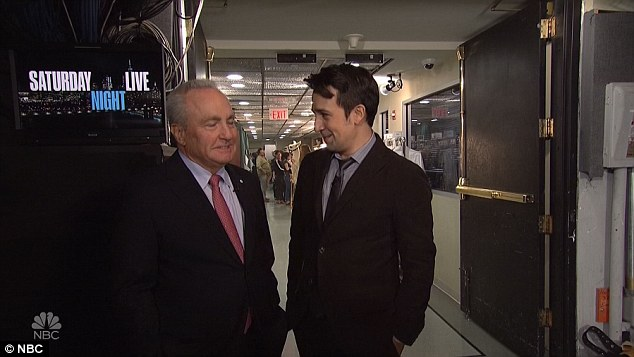 'I'll do a matinee?' Further down the corridor he was stopped by SNL chief Lorne Michaels, who asked him if he could get him Hamilton tickets