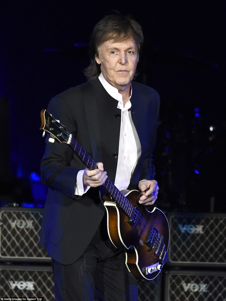 He's really flying now: McCartney fast forwarded to a classic Wings song from 1973, Jet