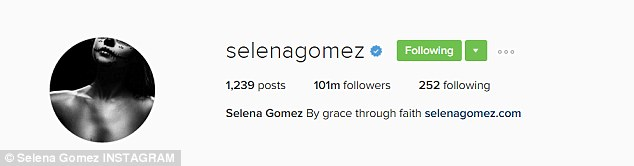 New record: Said lack of activity didn't mean her fans forgot her though, as Selena became the most followed individual on Instagram back on September 27th