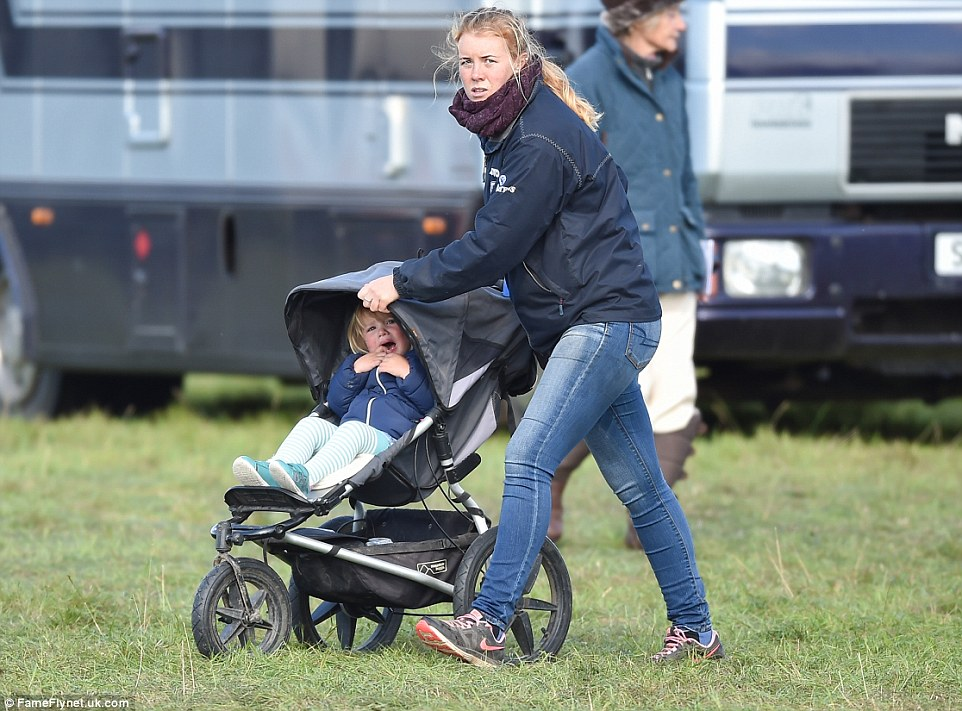But after a while it all became too much for even a toddler as confident as Mia who retreated the comfort of her pushchair