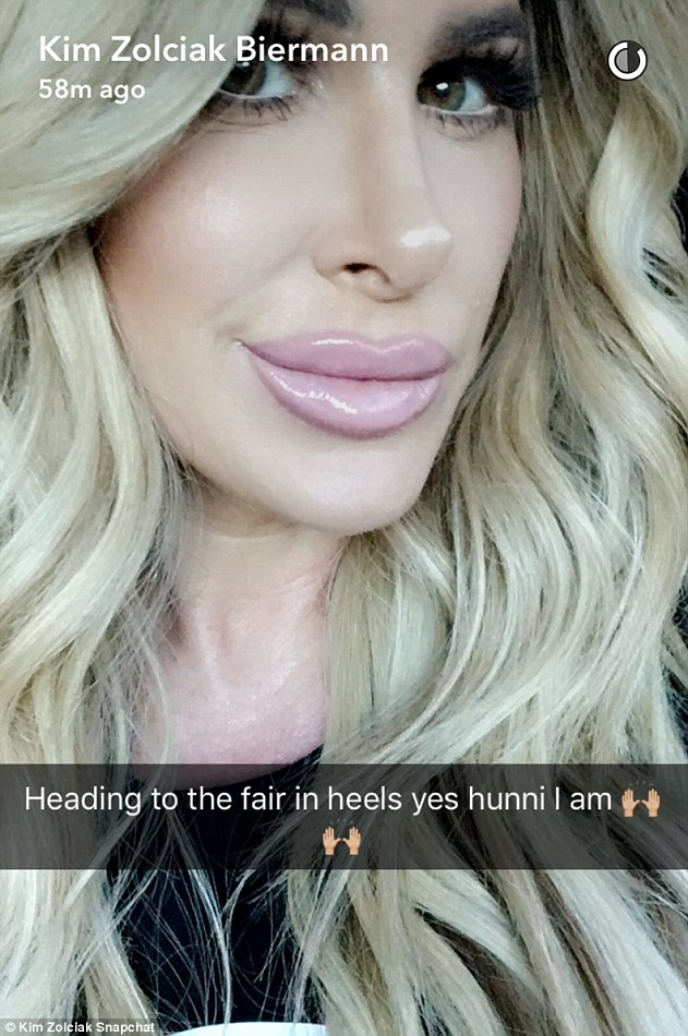Flawless: The Real Housewives Of Atlanta star showed off her makeup and hair look for the family day at the fair while on the way