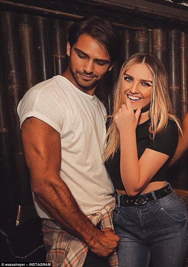 Summer lovin': Perrie was recently linked to actor Luke Pasqualino, 26 earlier in the summer when they were spotted enjoying a performance of Aladdin in the West End but later called time on their romance in September