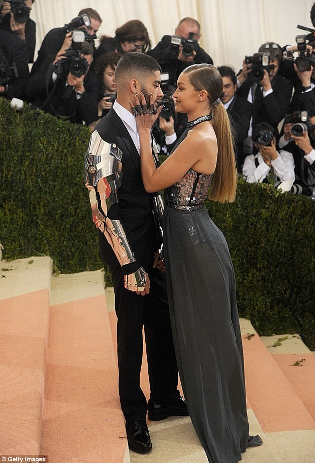 Happy out: Zayn is now happily loved-up with new girlfriend and supermodel Gigi Hadid