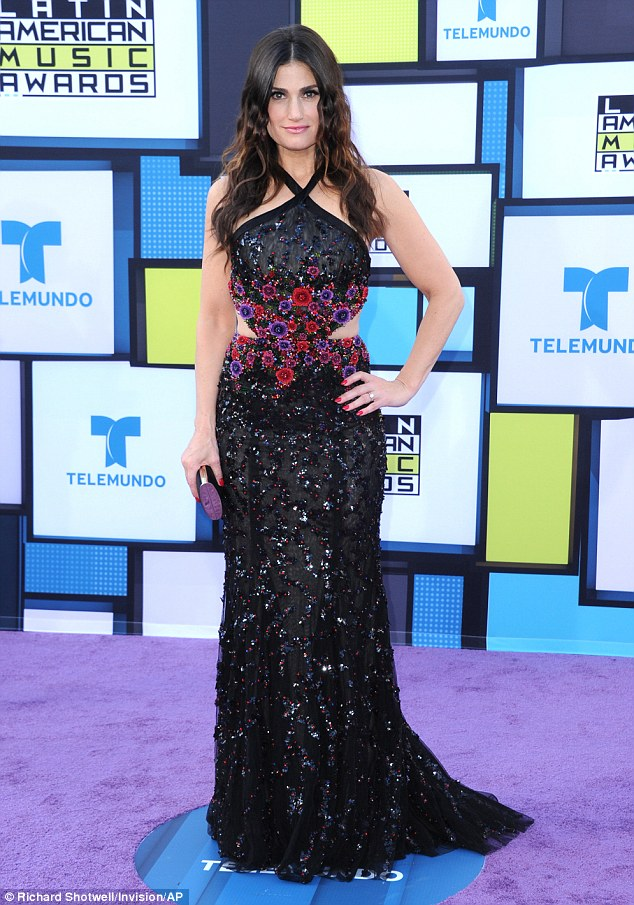 Busy girl: She just walked the red carpet at the Latin American Music Awards on Friday