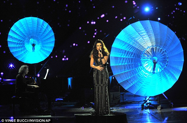 Still gets nervous: After the Small World songstress performed at the fan-voted awards show, her hands were shaking