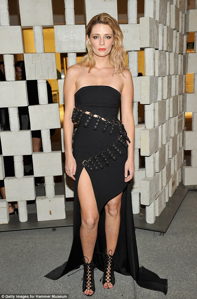 Super sexy: Mischa Barton added a naughty new twist to the classic LBD for a night out at Hammer Museum's 14th annual Gala In The Garden on Saturday in Los Angeles