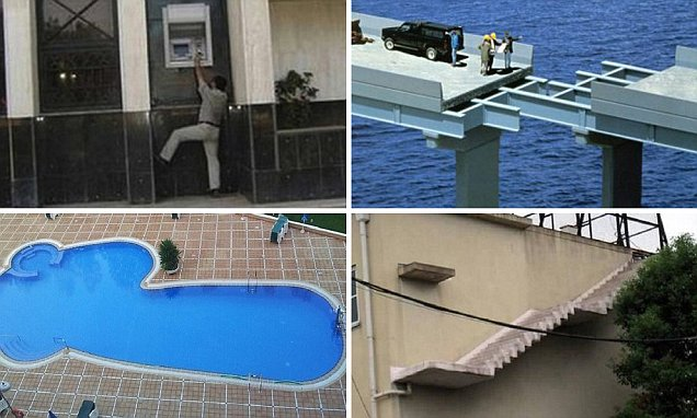 ATMs too tall to reach, staircases to nowhere and a VERY inappropriate swimming pool: The