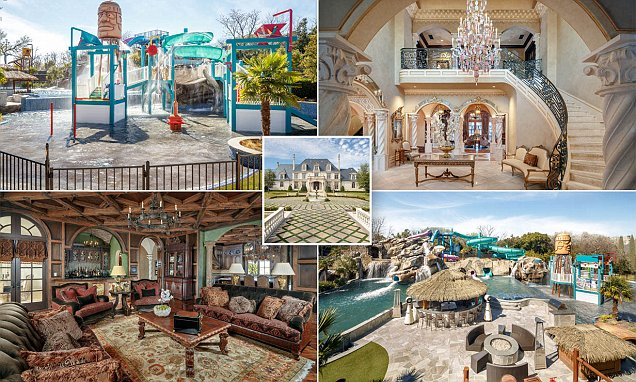 Incredible $32million Dallas mansion hits the market complete with its own water park