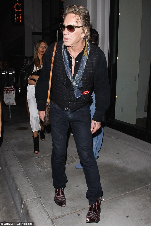 So fancy: The 64-year-old looked pretty dapper as he checked out new celeb hot spot Catch LA on Friday night