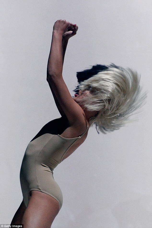 Skilled: Sia was joined by dancing prodigy Maddie Ziegler, who showed of some chaotic dance moves to match the singer's ethereal voice