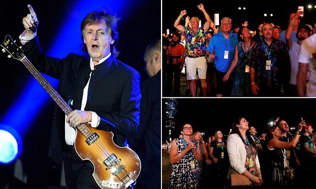 Paul McCartney, 74, turns back time and makes it look so easy as he rocks on stage at