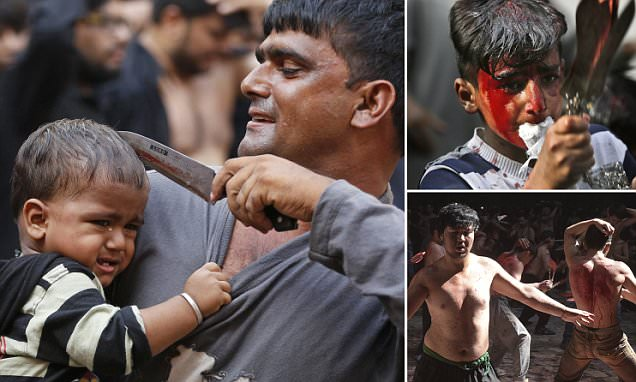 Afghanistan baby gets head sliced open as part of Islamic self-flagellation ceremony