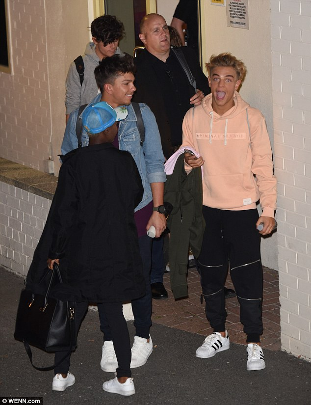 What an experience: Following the judges and presenters were the acts, with an excited-looking Matt Terry and Freddy Parker leading the way beside Gifty Louise