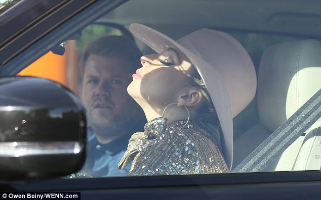 Ready to perform! Lady Gaga, 30, was spotted filming with James Corden, 38, for the next installment of the award-winning segment Carpool Karaoke on The Late Late Show on Friday