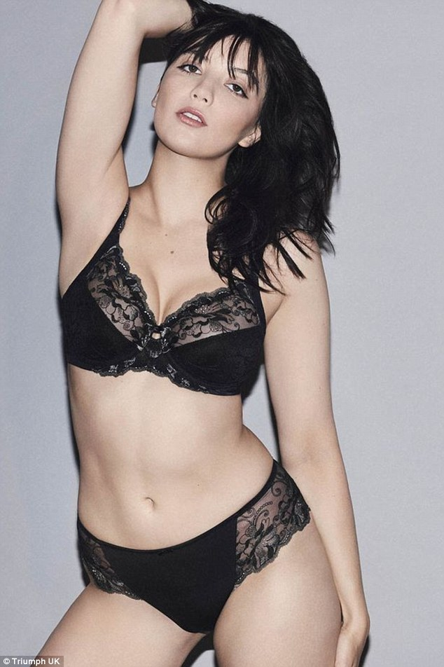 Good intentions: Daisy Lowe, 27, said she wants to make women watching Strictly Come Dancing feel good about their bodies