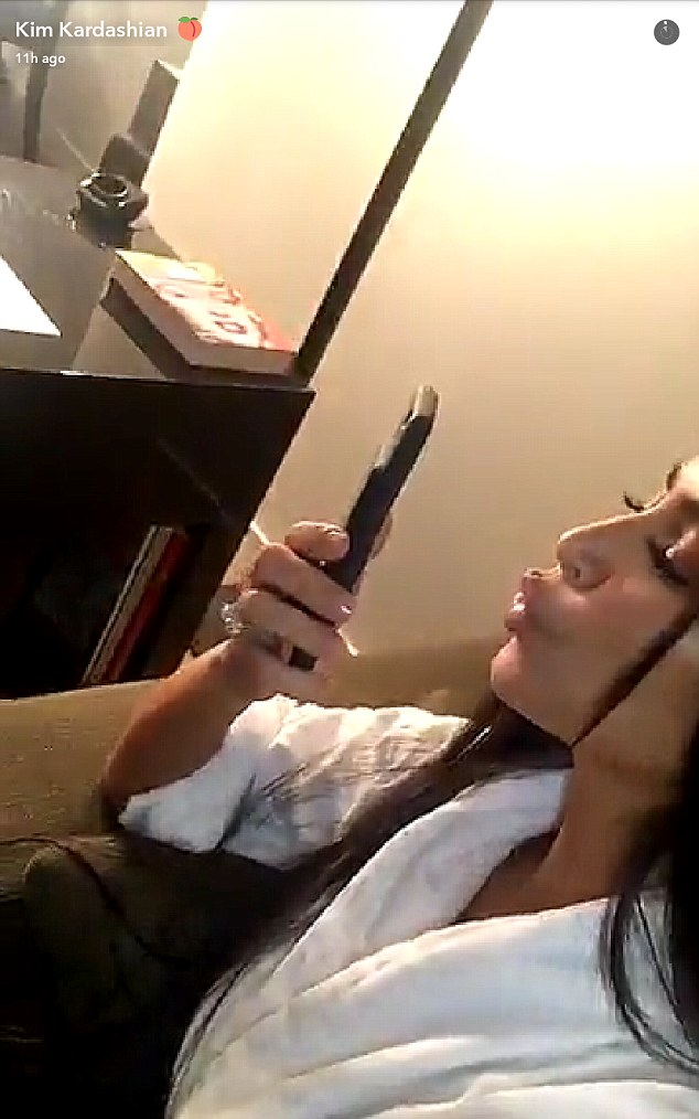Social media addict: But Kim has shunned social media since the heist, after her frequent posts were blamed for making her a target