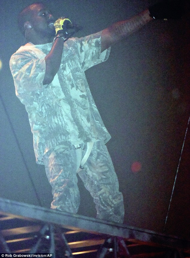 His favorite platform: Kanye  took the stage at Chicago's United Center