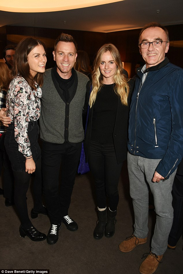 Man of the hour: Ewan was joined by Morgane Polanski, Cressida and Danny Boyle