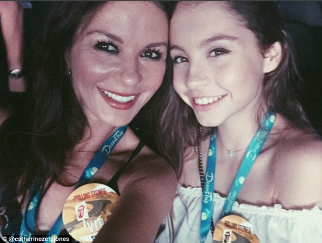 Look-a-like: Sharing another candid snap from the highly-anticipated gig, Catherine posted a pic with her mini-me daughter Carys