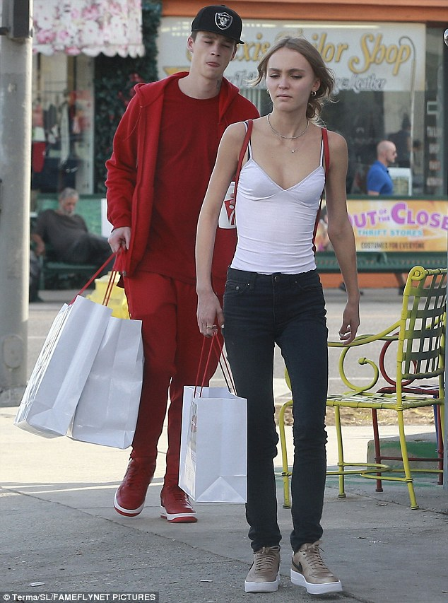 Buddy or beau? The teenaged stunner was joined by her rumoured boyfriend, English model Ash Stymest