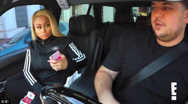 Petty: Blac Chyna let a bag of French fries fall to the floor in Rob Kardashian's car after he took a sharp turn in a sneak teaser for this weeks Rob & Chyna