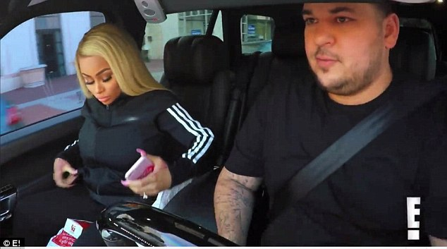 Henpecking her: What sets Rob off is that Chyna was more interested in her phone than the fries. 'You gotta choose one, the food or your phone, either or,' Rob tells Chyna. 'Either or, what's more important?'