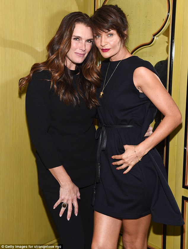 Support: Also attending the launch was supermodel Brooke Shields, 51