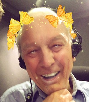 Radio 4 Today programme presenter Sarah Montague posted a Snapchat picture of colleague John Humphrys