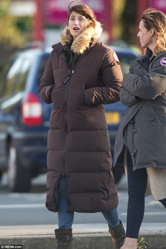 Glowing: Gemma Arterton, 30,showed off an enviably clear complexion as she returned to her hometown of Gravesend to shoot new drama The Escape on Wednesday