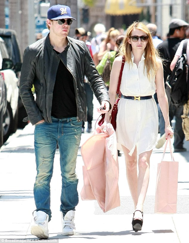His ex: Chord used to date Emma Roberts; here they are seen in 2011 in Beverly Hills