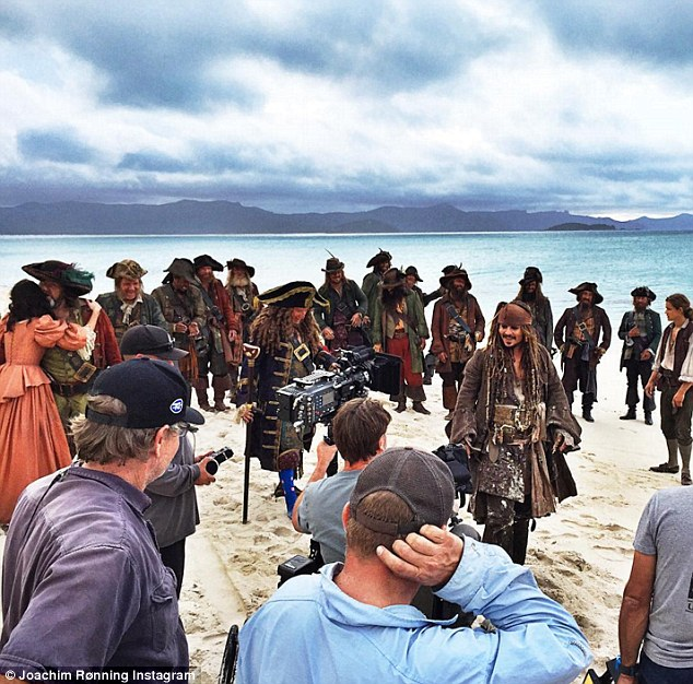 In response to his post, fans begged Ronning to release a trailer showing Depp in his famous role. The Hollywood star is seen filming on location in Australia  with Ronning last year