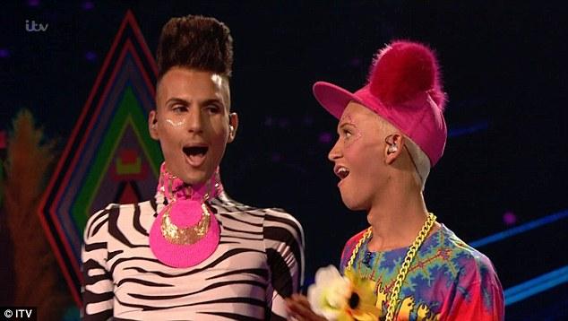 Gender-bending: Fashion victims Bratavio performed a tragic version of Aqua's Barbie Girl