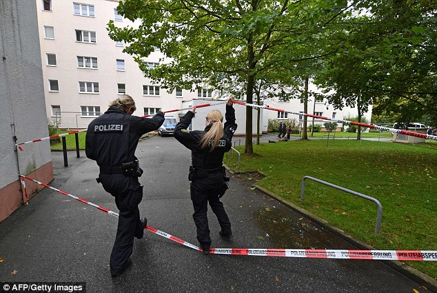 Raid:German commandos have stormed a flat and made an arrest in the hunt for a Syrian refugee suspected of plotting a terrorist bomb attack on an international airport