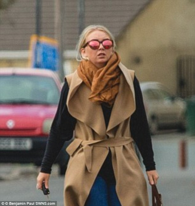 She is pictured here leaving her home in Bradford following reports that she was speaking with a British fighter on Facebook who is recruiting women for the 'caliphate'