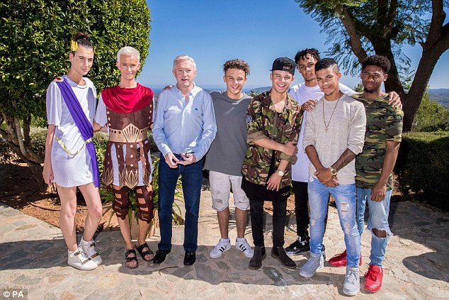 Controversially Louis (pictured with Octavio and Bradley, The Brooks and 5A) sent Four of Diamonds, Yes Lad, Skarl3t and duo Tom and Laura home