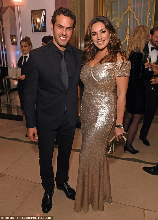 Smitten:Kelly Brook and her boyfriend Jeremy Parisi made quite the dashing couple as they enjoyed a glam date night on Sunday at the Brilliant is Beautiful gala dinner in London