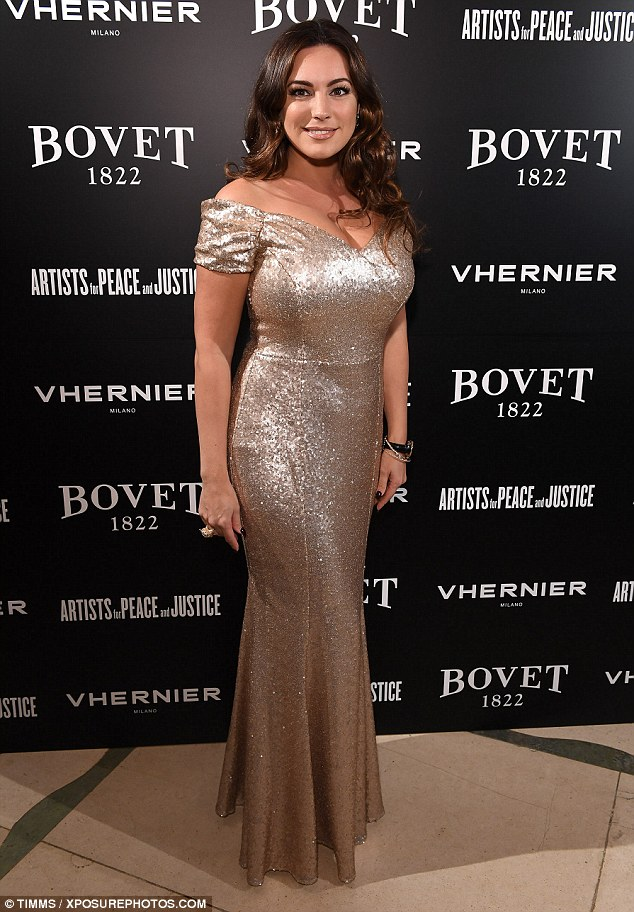 Wow factor:The tight-fitting number showed off the star's voluptuous curves to perfection