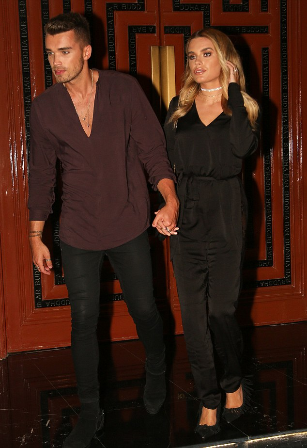 Hand-in-hand: The pair were inseparable as they arrived at the Buddha Bar, Grosvenor Hous