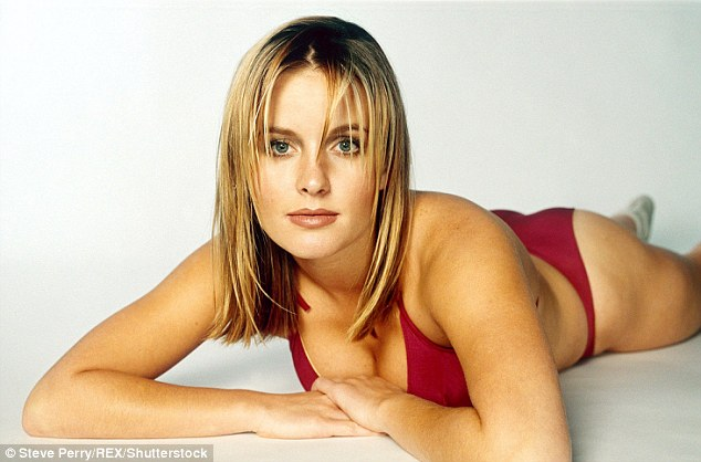 Stirring up trouble: Davinia (here in 1998) has opened up about her horrifying experience with breast implants