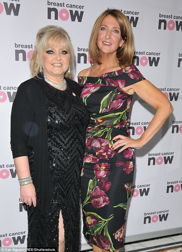 TV queens: Linda Nolan (left) and Victoria Derbyshire (right) paired up for pictures