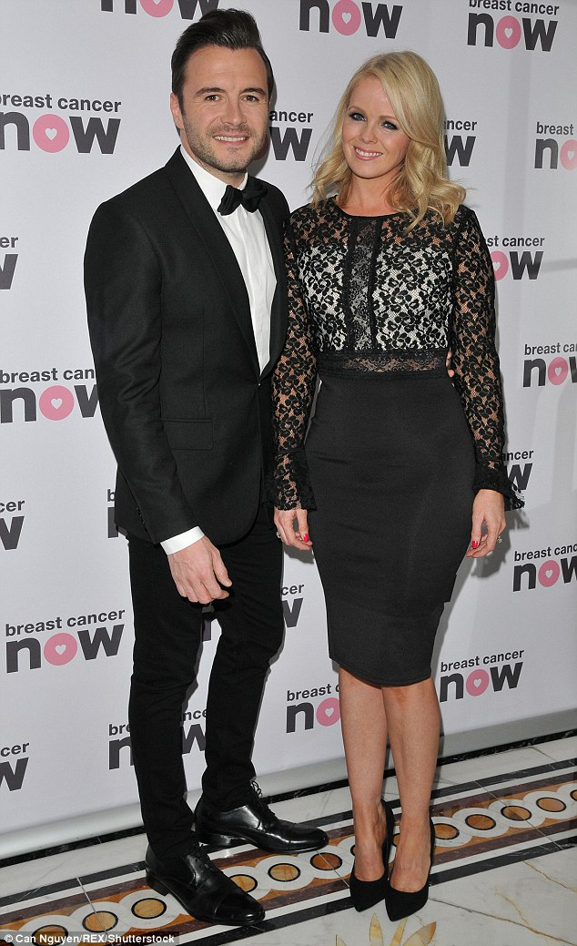 Cute couple: Shane Filan and his wife Gillian Walsh made a glamorous duo