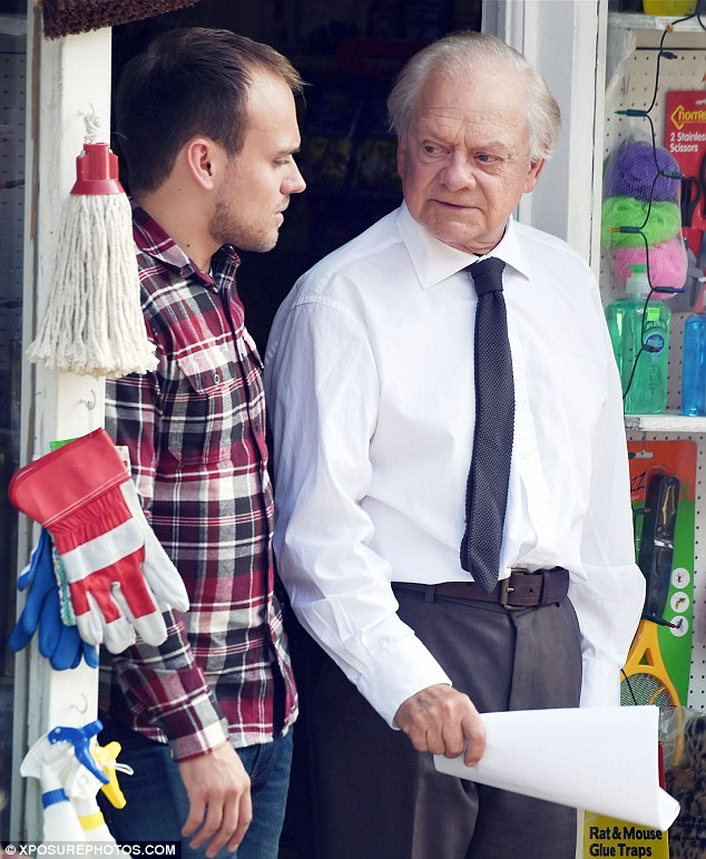 Read through: James Baxter joined David Jason on set for a read through