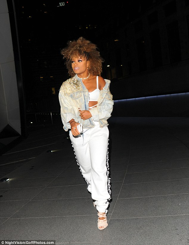 Star studded: Fleur East was also spotted at the birthday bash