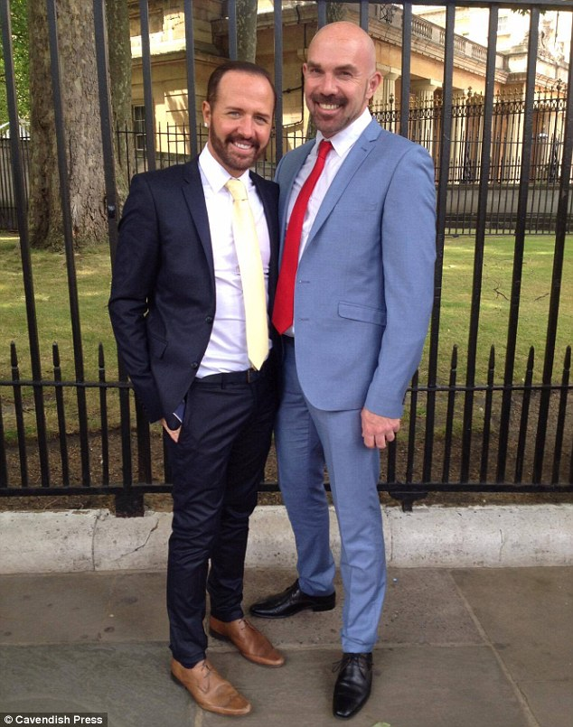 Mr Steed, pictured with Mr Butland before the transplant, had the procedure during a break in filming Gogglebox just after Christmas and then returned to the last series with his head shaved