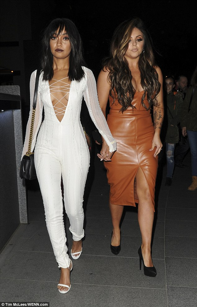 Birthday girl: Leigh-Anne Pinnock was turning up the heat when she joined her Little Mix bandmates on Saturday for a glamorous night at The Stirling in central London to celebrate her 25th birthday