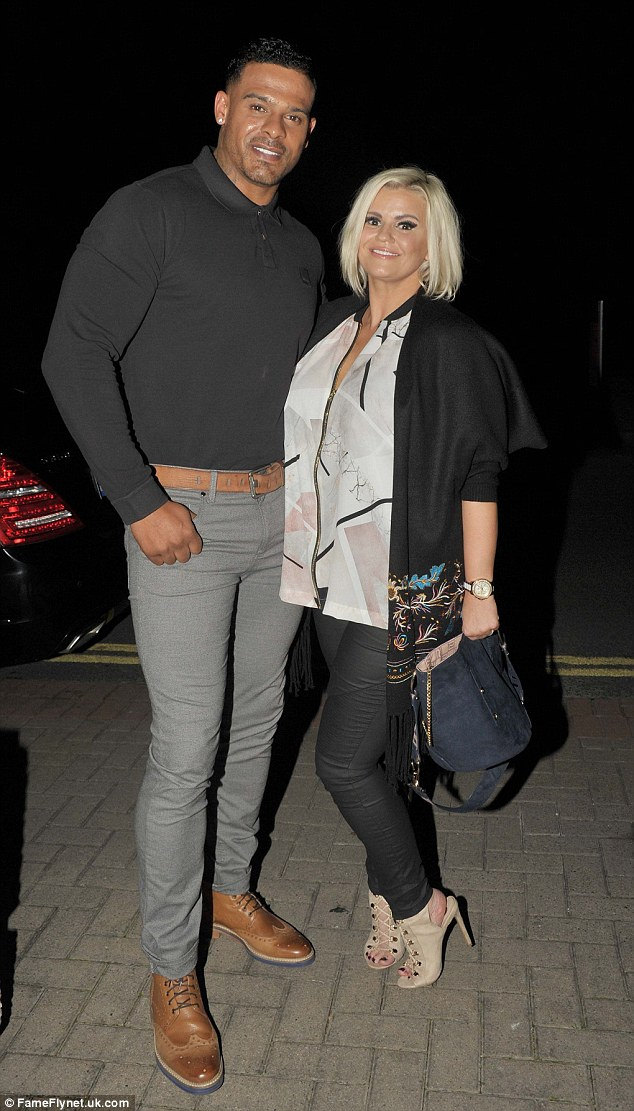 Together: Kerry Katona and  George Kay put on a united front when they emerged in Ireland on Saturday night