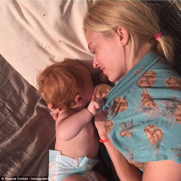 Happy birthday Honey! Fearne posted  an adorable snap of herself and  her daughter as the tiny tot turned one