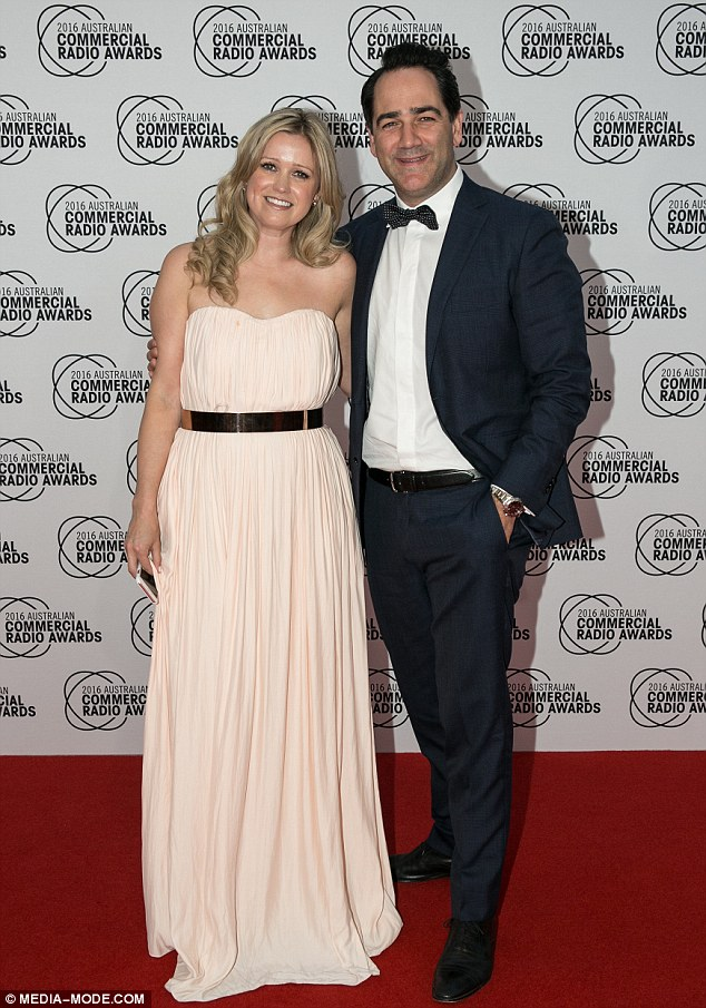Colleagues: Despite not having his co-host, Wippa attended the industry event with the show's On Air and Assistant Program Director, Sarah McGilvray